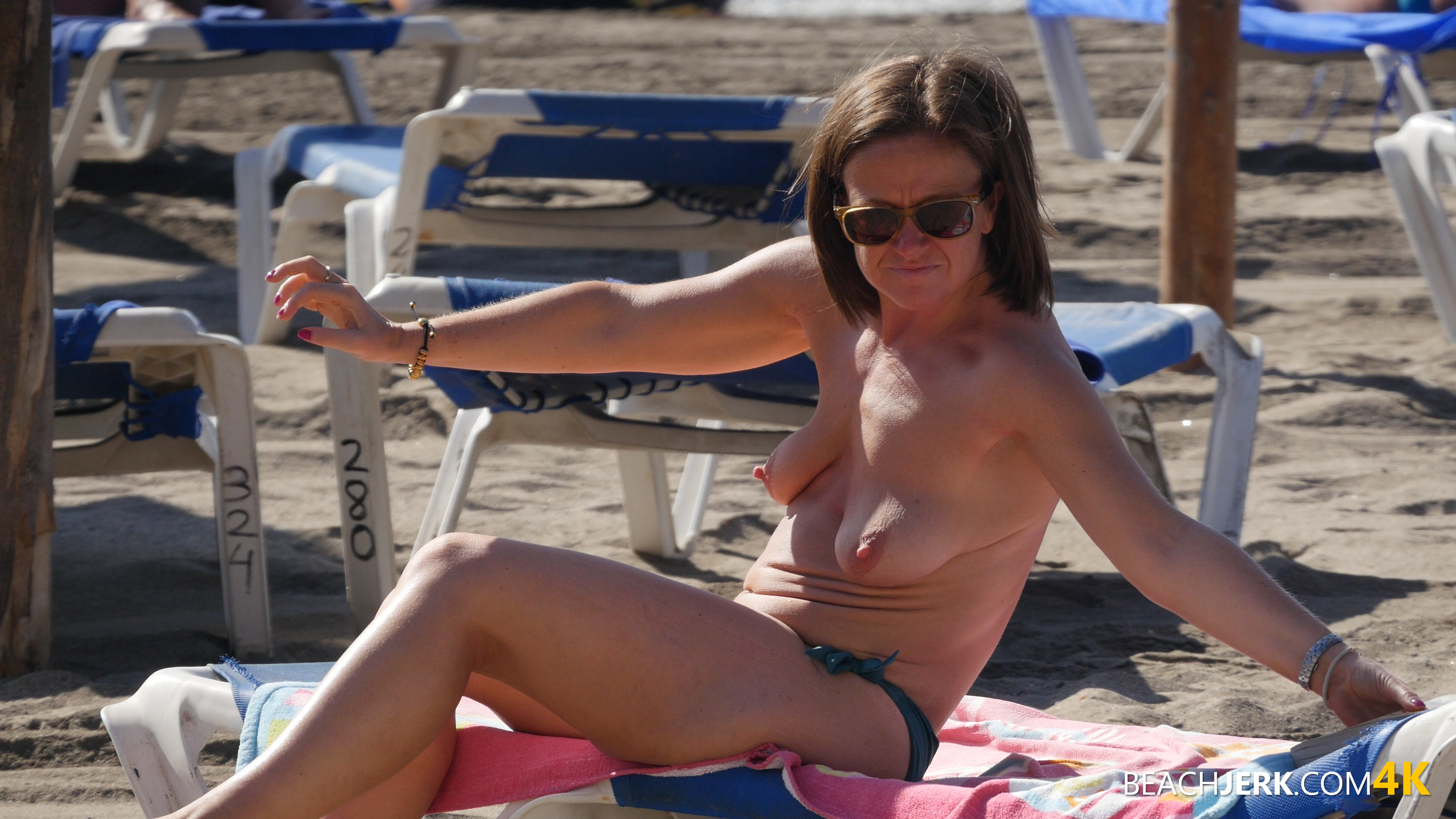 Nice tits topless beach something is