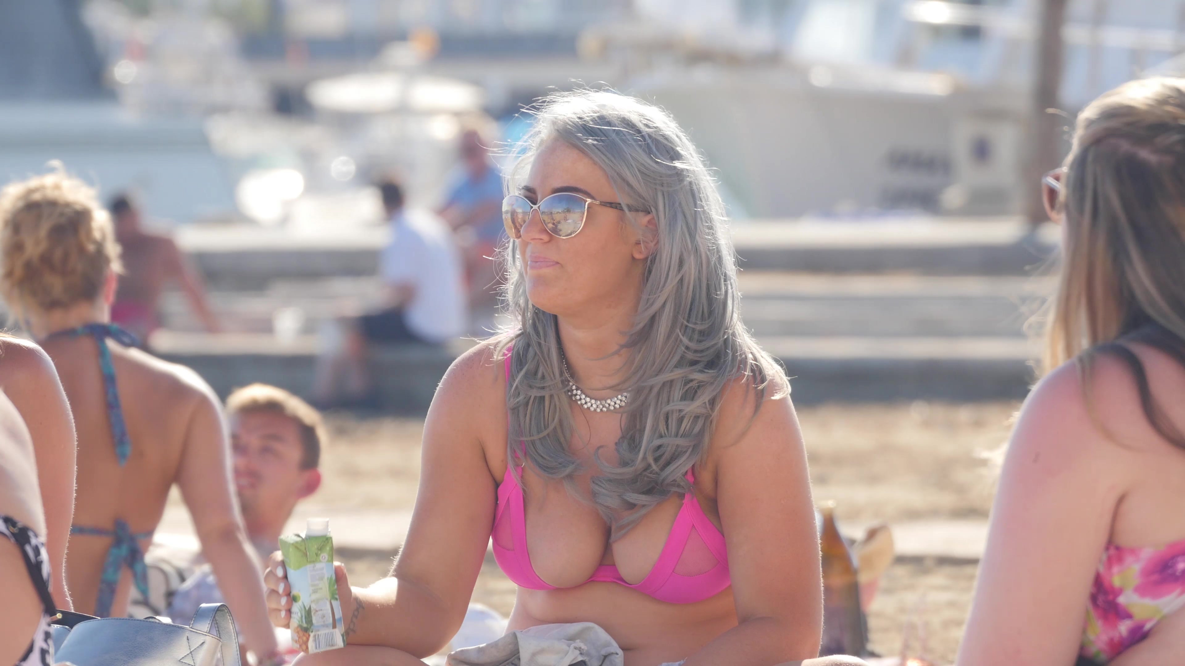 we all love big bikini tits - beach jerk