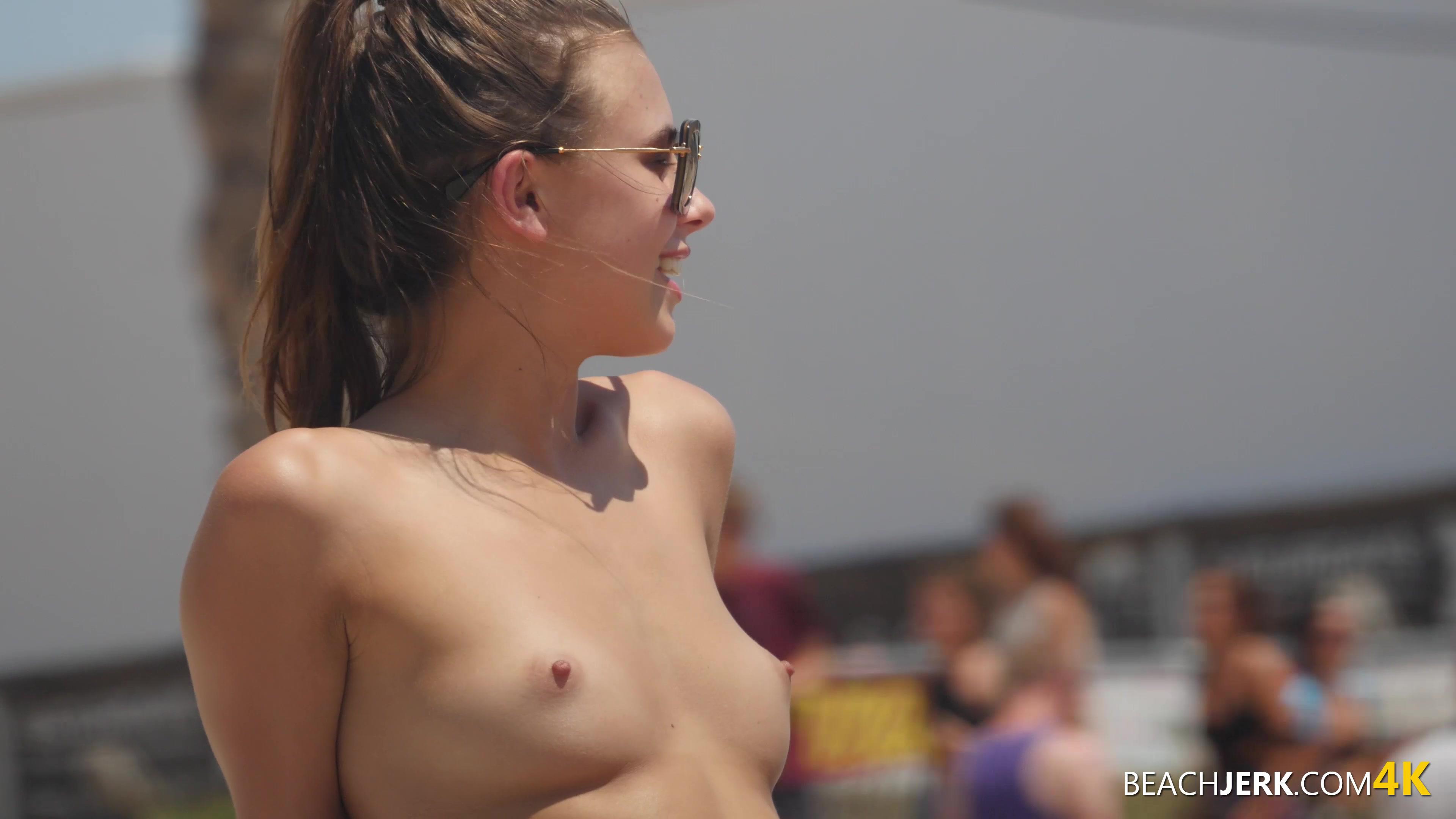 Small tit naturist beauty contest