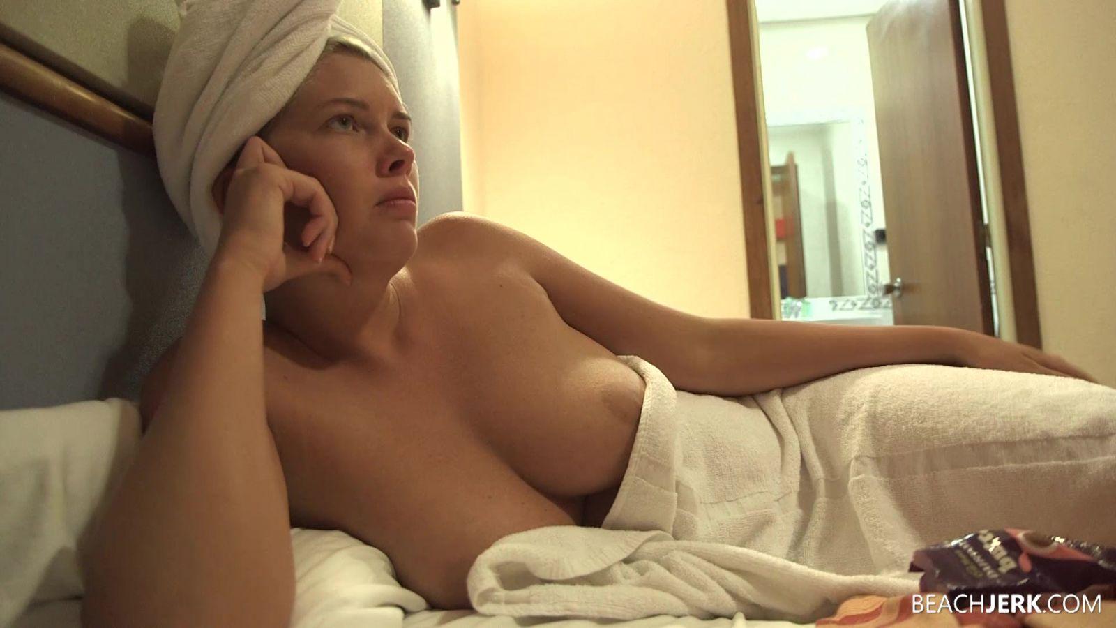 beach men shower naked